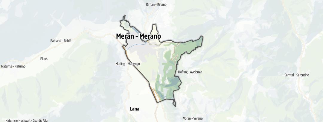 Karte / Rennradtouren in Meran