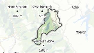 Hartă / Poggio San Vicino