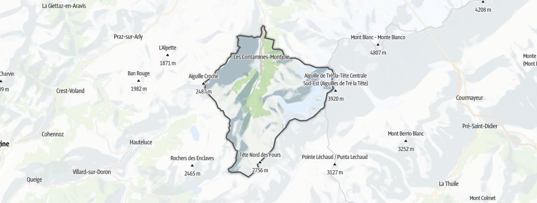 Mapa / Rutas de senderismo en Les Contamines-Montjoie