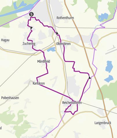 Karte / 12. Mai 2015 Spargelradtour nach Reichertshofen