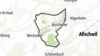 מפה / Buschwiller