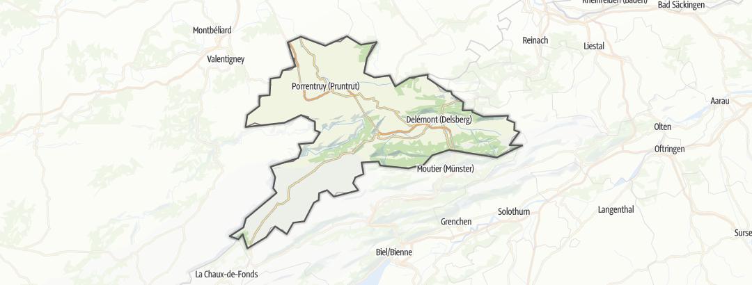 Mapa / Canton Jura