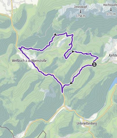 Karte / Weißbachschlucht-Jochberg-Höllenbachalm