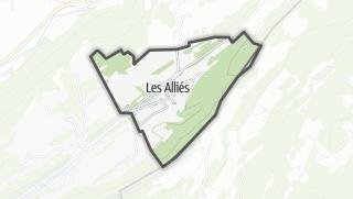 Mapa / Les Alliés