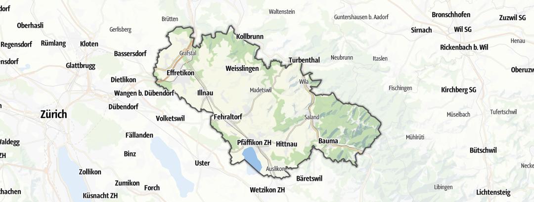 Karte / Wandern in Pfäffikon