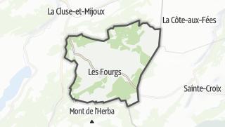 Térkép / Les Fourgs