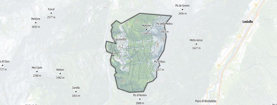 Carte / Chemins de grande randonnée - Braggio