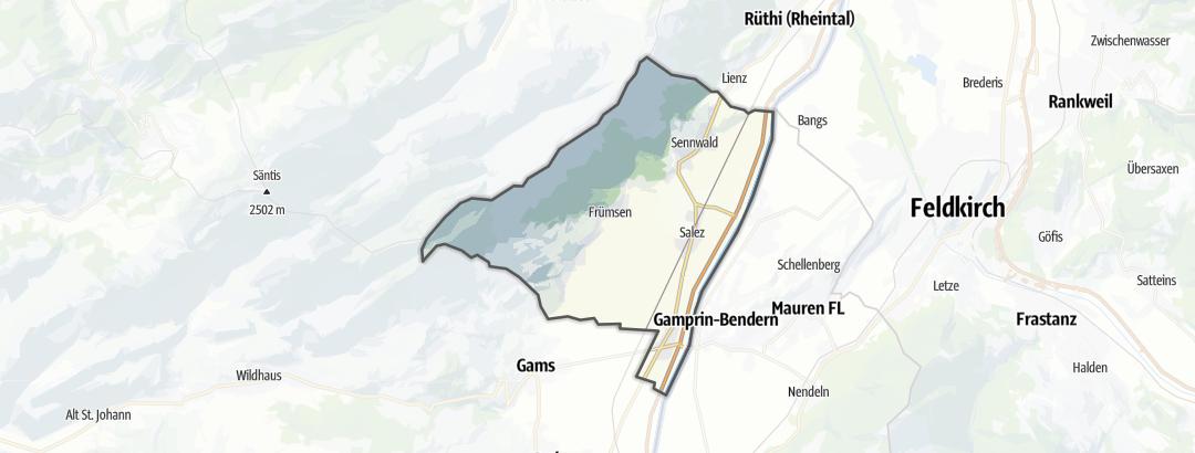 Carte / Circuits de randonnée - Sennwald