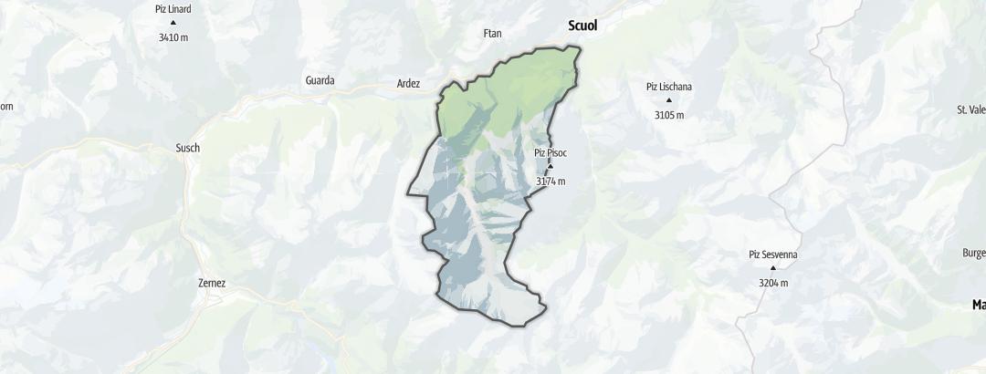 地图 / 在Tarasp里的山地车路线