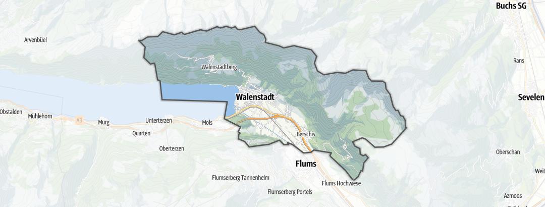 Karte / Wanderungen in Walenstadt