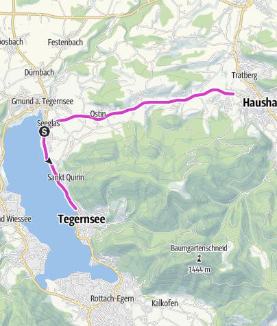 Karte / Tegernsee Triathlon 20km Radstrecke Sprint
