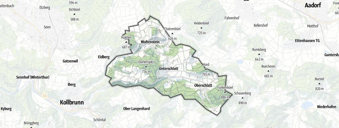 Map / Hikes in Schlatt (ZH)