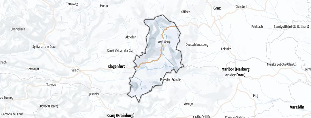 地图 / 在Lavanttal里的雪鞋徒步