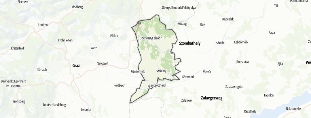 Karte / Wandern im Südburgenland
