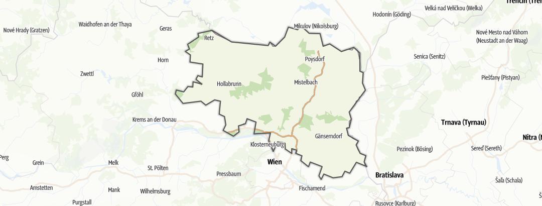 Kartta / Viinitavernat kohteessa Weinviertel