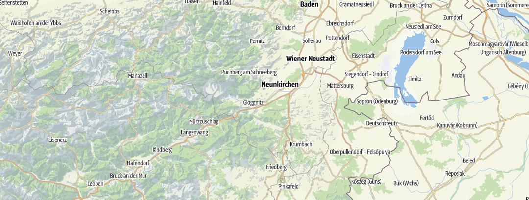 Map / Via ferratas in Wiener Alpen