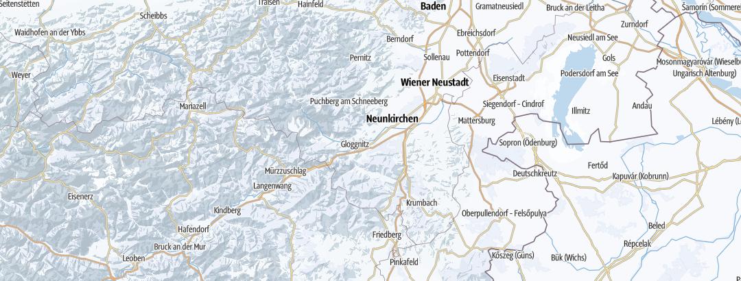 Térkép / Síterületek,  Wiener Alpen területén