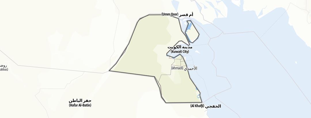 Map / Kuwait