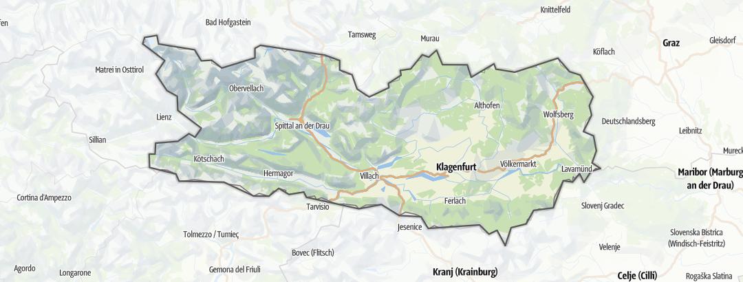 מפה / טיולי אופני הרים בקרינתיה