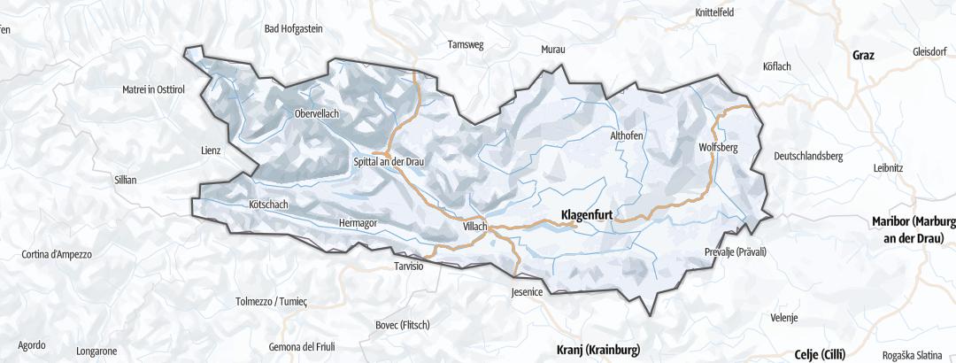 地图 / 在Carinthia里的雪鞋徒步