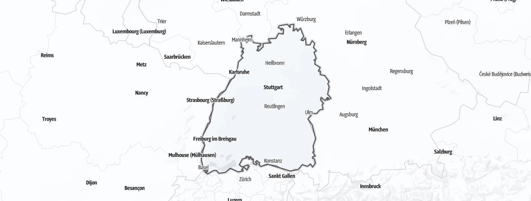 Map / Ski tours in Baden-Wurttemberg