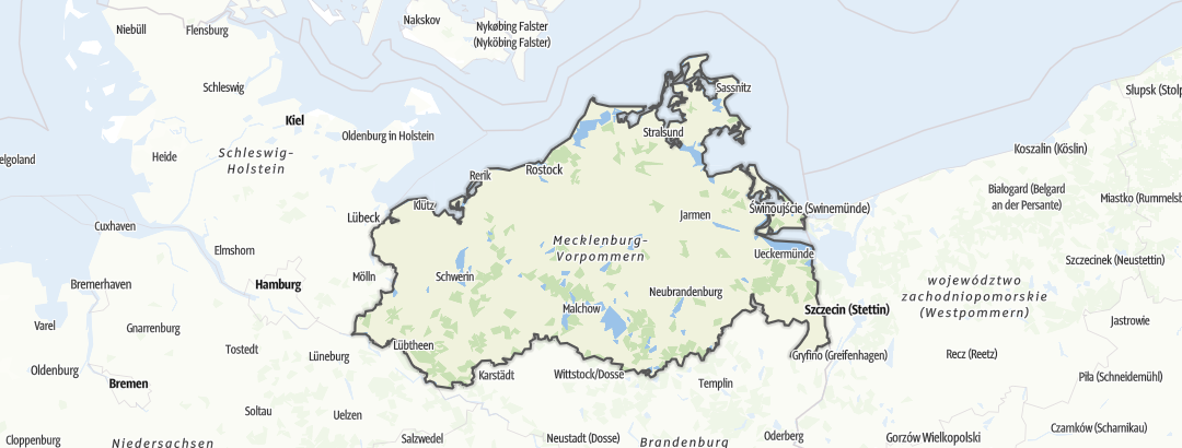 Kart / Utsiktspunkt i Mecklenburg-Vorpommern