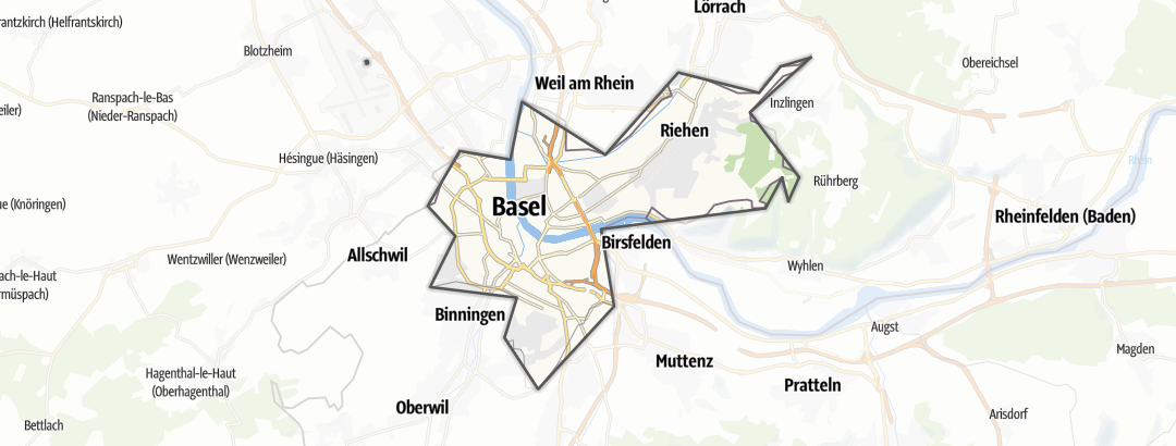 Map / Long-distance hikes in Basel-Stadt