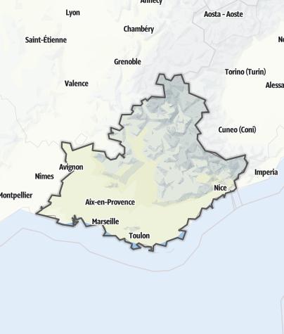 Map / Provence-Alpes-Côte d'Azur