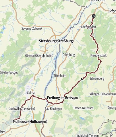 Karte / Jakobsweg 1.Etappe Malsch-Loßburg-Thann neu