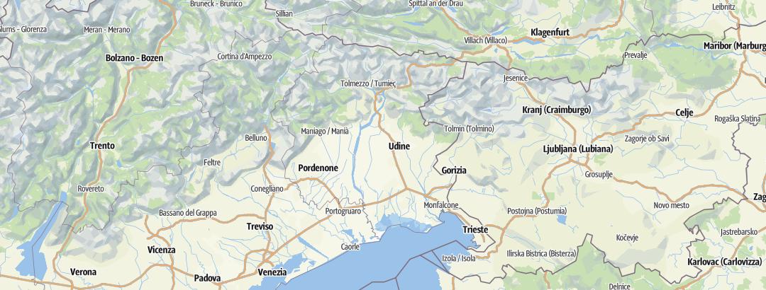 Карта / Походы в Friuli-Venezia Giulia