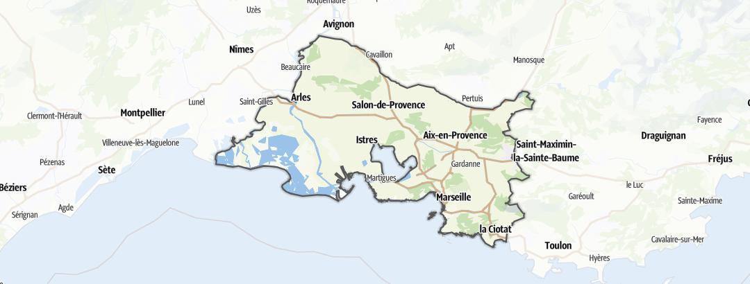 Карта / Походы в Bouches-du-Rhône