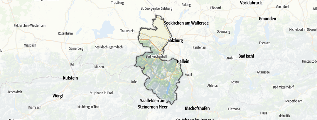 Map / Holiday homes in the Berchtesgadener Land