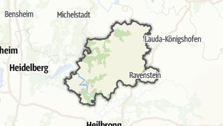 מפה / Neckar-Odenwald-Kreis