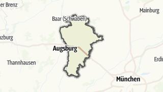Mapa / Aichach-Friedberg