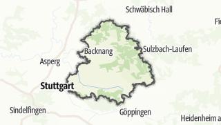 Cartina / Rems-Murr-Kreis