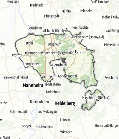 Karte / Bergstraße