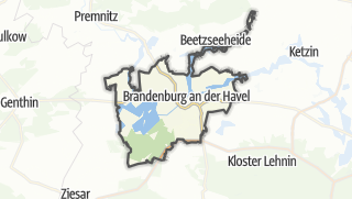Carte / Brandenburg an der Havel