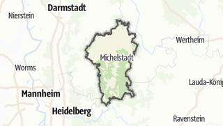 מפה / Odenwaldkreis