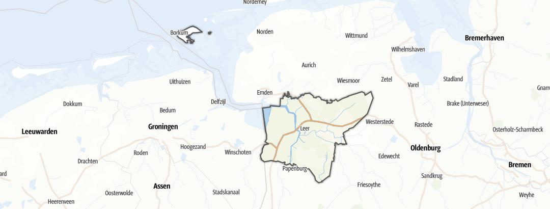 Mapa / Apartamentos vacacionales en Leer (Ostfriesland)