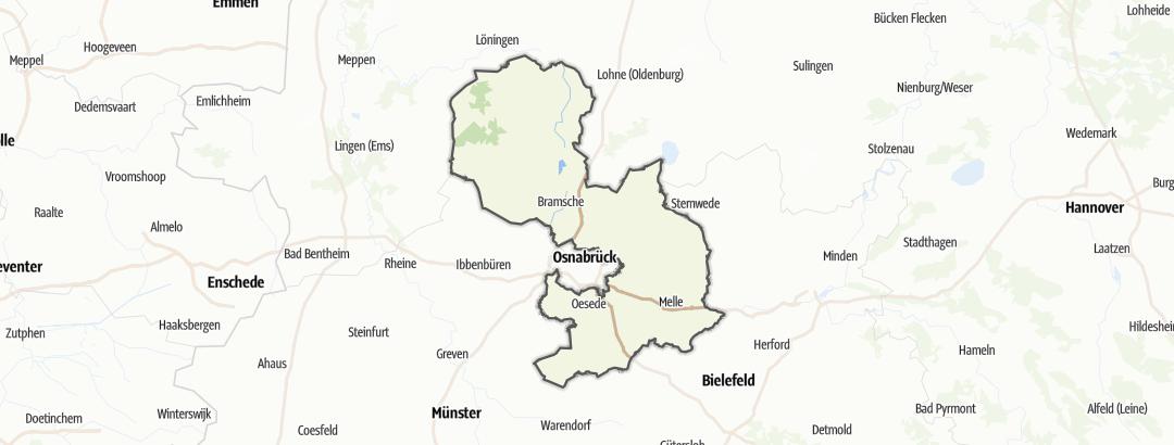 Mapa / Výlety za krásami přírody v oblasti Osnabrueck
