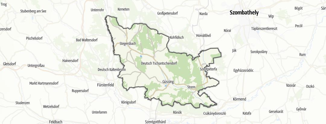 Karte / Wanderungen in Güssing