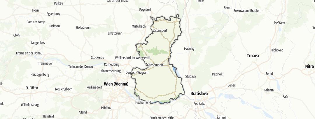 Mappa / Escursioni a Gänserndorf