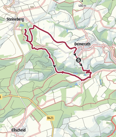 Karte / Demerath - Steineberger Lay - Demerath