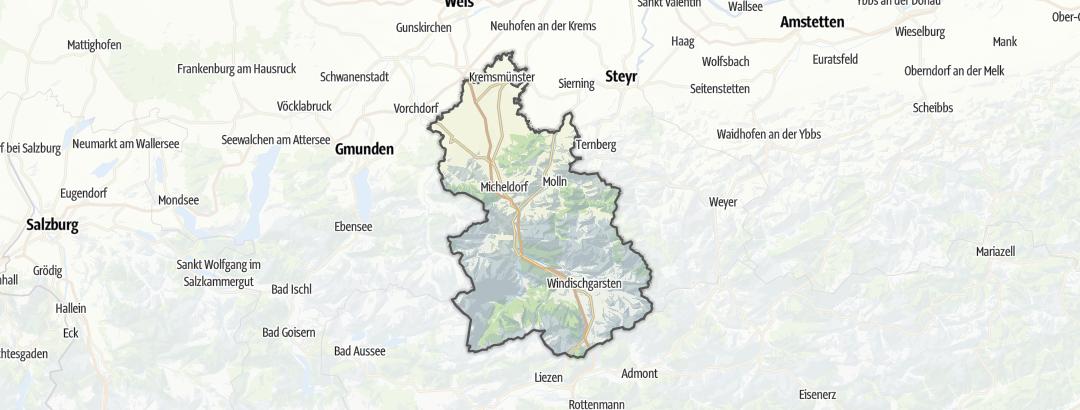 Karte / Wanderungen in Kirchdorf an der Krems