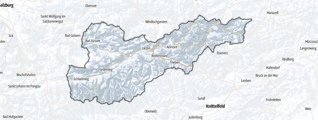 Kartta / Maastohiihtoreitit kohteessa Liezen