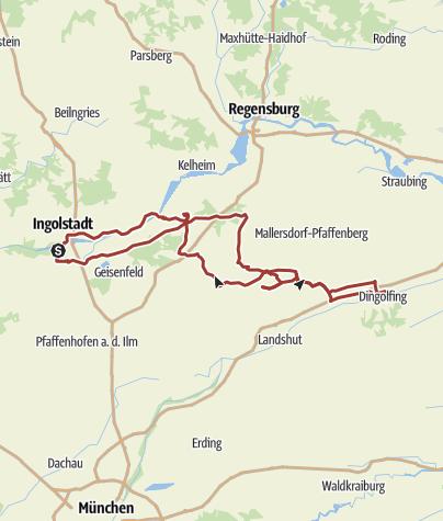 Karte / 24. Mai 2015 Rollertour nach Dingolfing