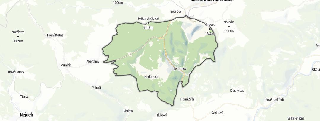 Hartă / Trasee de trail running in Jáchymov