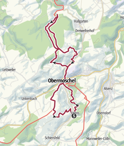 Karte / montfort 22 km
