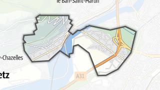 Mapa / Longeville-lès-Metz