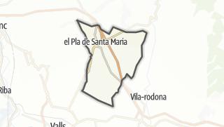 地图 / el Pla de Santa Maria